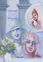 Work of Umberto Bianchini - Pinocchio e le Fatine mixed canvas
