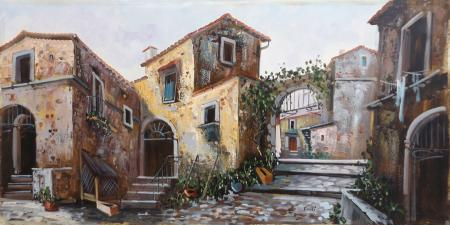 Quadro di  Tucci I cortili di Tucci - Pittori contemporanei galleria Firenze Art