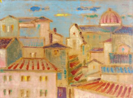 Art work by Lazzaro Donati Cestello - oil table