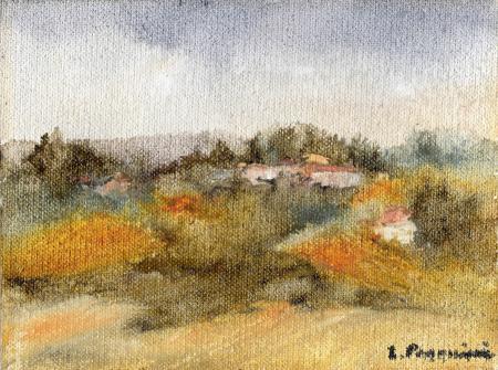 Quadro di Luciano Pasquini Paesaggio  - olio faesite