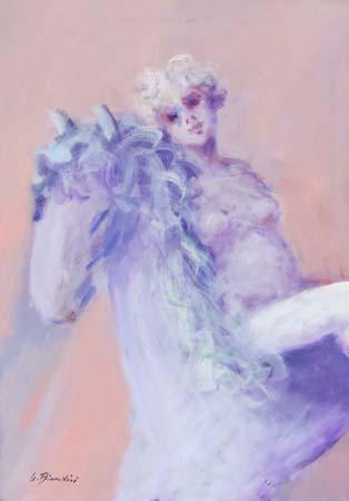 Quadro di Umberto Bianchini La Lady - olio tela