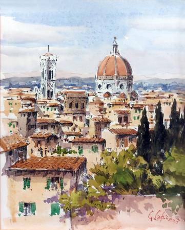 Art work by Giuseppe Capineri Duomo dal piazzale - watercolor paper