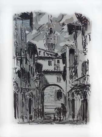 Art work by Giuseppe Capineri Firenze - lithography paper