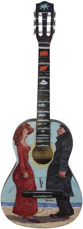 Art work by Giampaolo Talani La chitarra degli innamorati - oil plywood