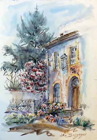 Quadro di Elio Bargagni Casa - acquerello carta