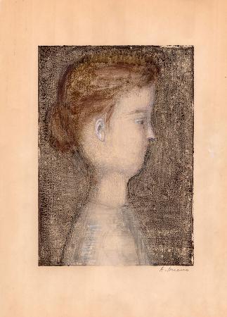 Quadro di Antonio Bueno Ritratto - mista carta