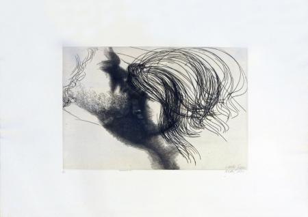 Quadro di Emilio Greco Abbraccio - incisione carta