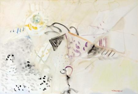 Quadro di Mario Francesconi Astratto - acquerello carta