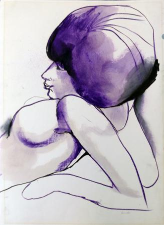 Art work by Fernando Farulli Donna di schiena - pastel paper