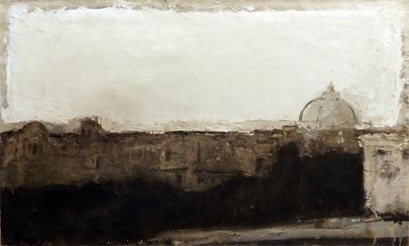 Quadro di Osvaldo Piraccini Roma - affresco tela di juta