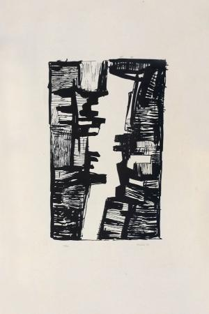 Art work by Gualtiero Nativi Composizione - lithography paper