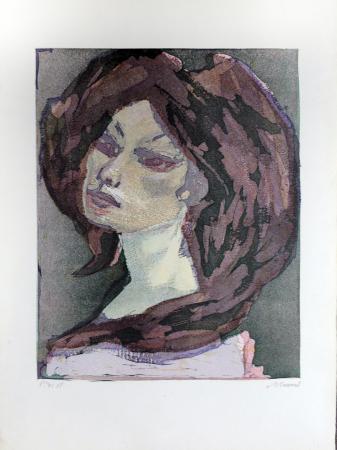 Quadro di Mino Maccari Figura - litografia carta