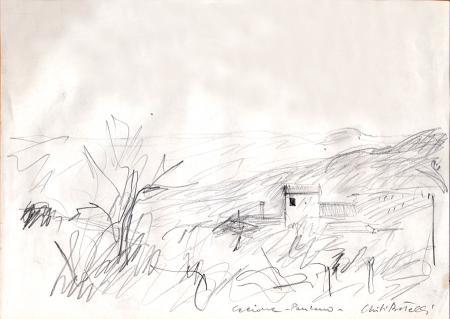 Quadro di Folco Chiti Batelli Paesaggio - lapis carta