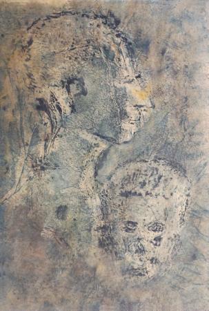 Art work by firma Illeggibile Maternità - mixed paper