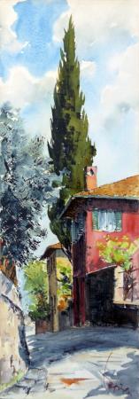 Quadro di Giuseppe Capineri Via di Camerata Firenze - Pittori contemporanei galleria Firenze Art