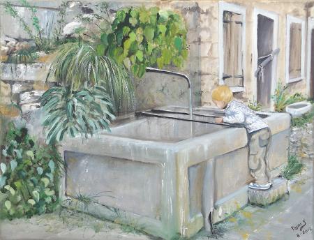 Quadro di Stefano Pasini Il bambino - olio tela