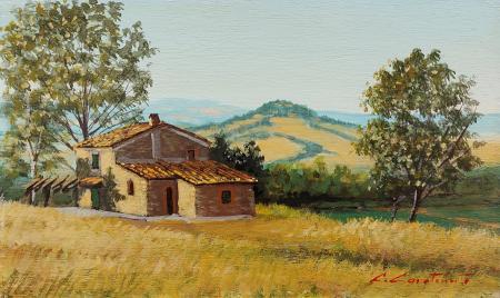 Quadro di Claudio Carotenuto Paesaggio toscano - olio tavola