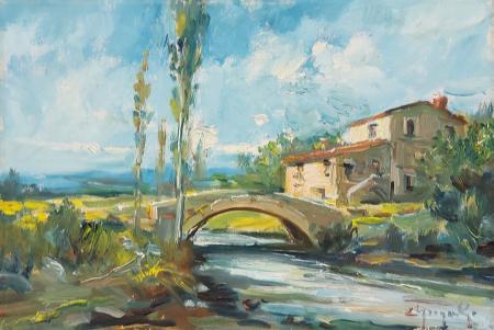 Art work by Ledo Gragnoli Il fiume - oil canvas