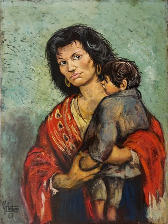 Quadro di Gianfranco Antoni Maternità - olio tela