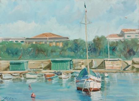 Quadro di Lorenzo Palazzi Marina  - olio tela