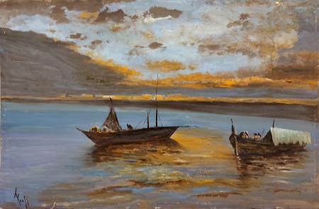 Quadro di  Fogli Marina - olio faesite