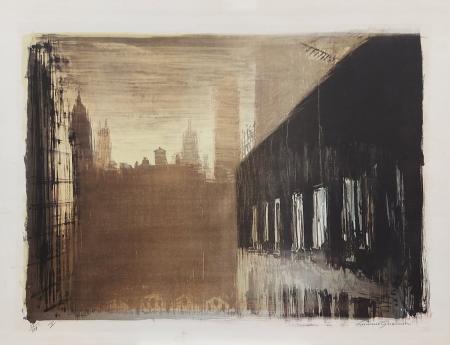 Quadro di Luciano Guarnieri Strutture - litografia carta