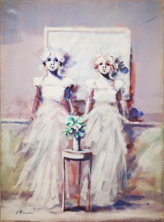 Quadro di Umberto Bianchini Figurine - mista tela