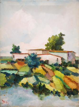 Quadro di  Danti Paesaggio - olio tela