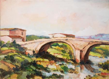 Quadro di  Danti Il ponte - olio tela