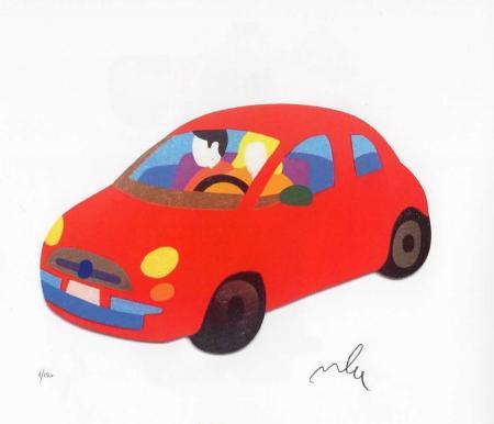 Quadro di Marco Lodola  500 Rossa - serigrafia carta