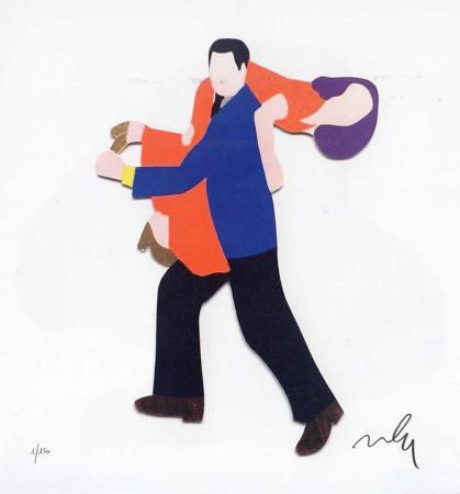 Quadro di Marco Lodola  Vieni con me - serigrafia carta
