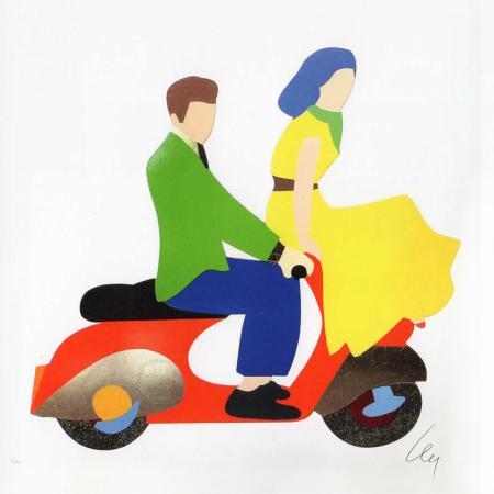 Artwork by Marco Lodola , serigraphy on paper | Italian Painters FirenzeArt gallery italian painters
