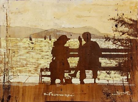 Quadro di Massimo Lomi Ritrovarsi - Pittori contemporanei galleria Firenze Art