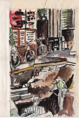 Quadro di Enrique Ortuno Araez Lavori in corso - china carta