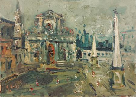 Quadro di Emanuele Cappello Santa Maria Novella - olio tela