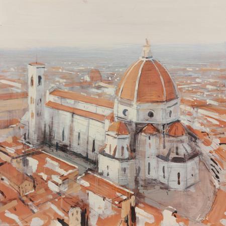 Quadro di Claudio Cionini Santa Maria del Fiore - mista cartone