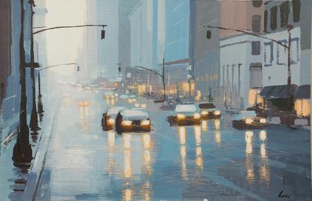 Quadro di Claudio Cionini Strade di New York - mista cartone