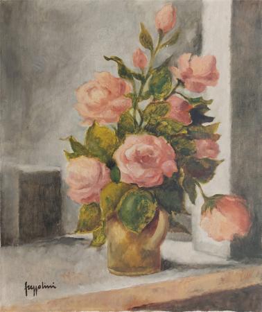 Quadro di Gianfranco Frezzolini Vaso di fiori - olio tela