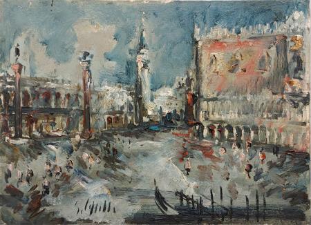 Quadro di Emanuele Cappello Palazzo Ducale - olio tela
