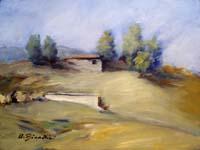 Quadro di Umberto Bianchini - Paesaggio olio tela