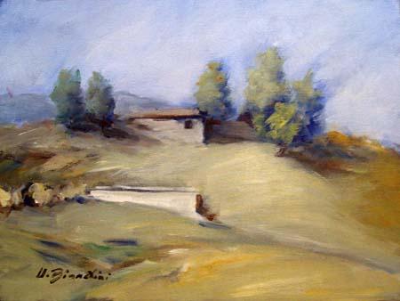 Quadro di Umberto Bianchini Paesaggio - olio tela