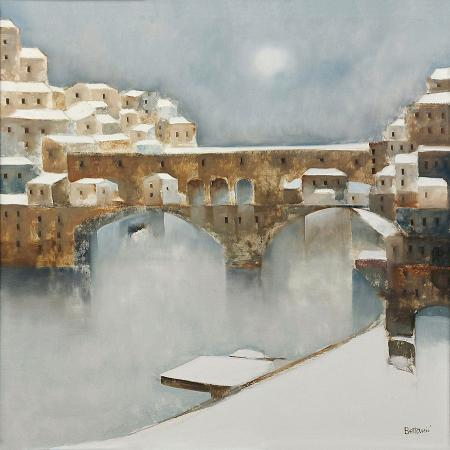 Quadro di Lido Bettarini Ponte vecchio - olio tela