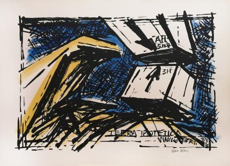 Art work by Vinicio Berti Terra ipotetica AH 3H - gouache paper