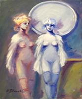 Quadro di Umberto Bianchini - Figure femminili olio tela