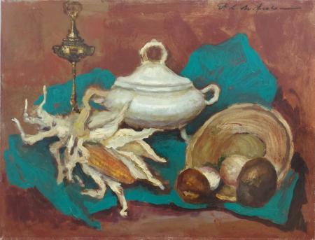 Quadro di Osman Lorenzo De Scolari Natura Morta - olio tela