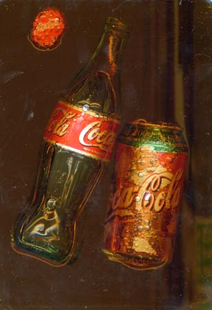 Art work by Andrea Tirinnanzi L'essenza del coca cola - digital art canvas