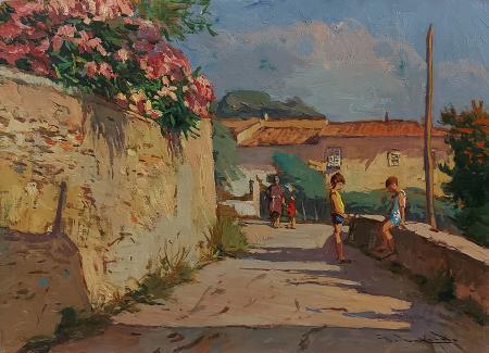 Quadro di Giorgio Luxardo Montenero - olio tavola