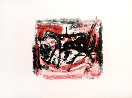 Quadro di Emanuele Cappello Composizione con cavallo - litografia carta