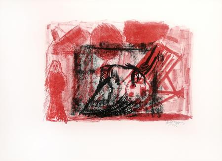 Quadro di Emanuele Cappello Composizione con stanza - litografia carta