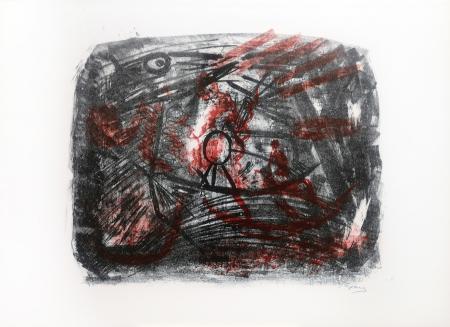 Quadro di Emanuele Cappello Composizione con figura - litografia carta